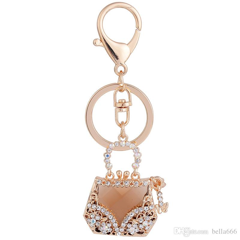 e4be4942c05ec Wholesale Custom Exquisite Alloy Crystal Flowers Key Chain Female ...