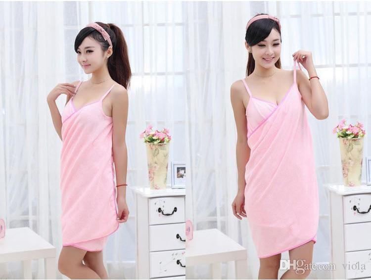 Hot Bath Towels Fashion Lady Girls Wearable Fast Drying Magic Beach Spa Bathrobes Bath Skirt beach towel