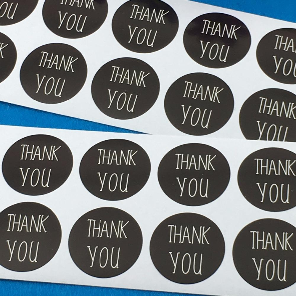2019 3cm black thank you round custom adhesive sticker labels scrapbook envelop classic paper stickers accept custom logo from lifehello 9 04 dhgate com