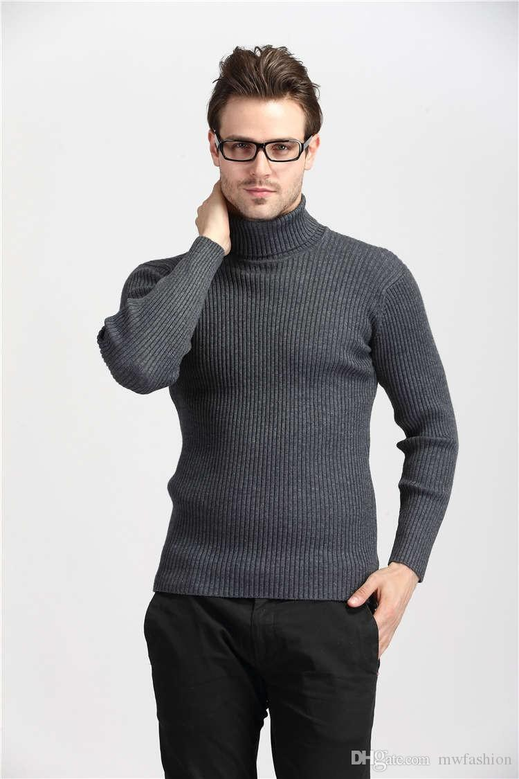 2018 2016 Winter Thick Warm 100% Cashmere Sweater Men Turtleneck ...