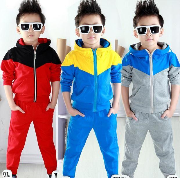 5e35ee568 2019 Baby Boys Autumn Hoodied Coats And Jackets Pants Set Korean ...