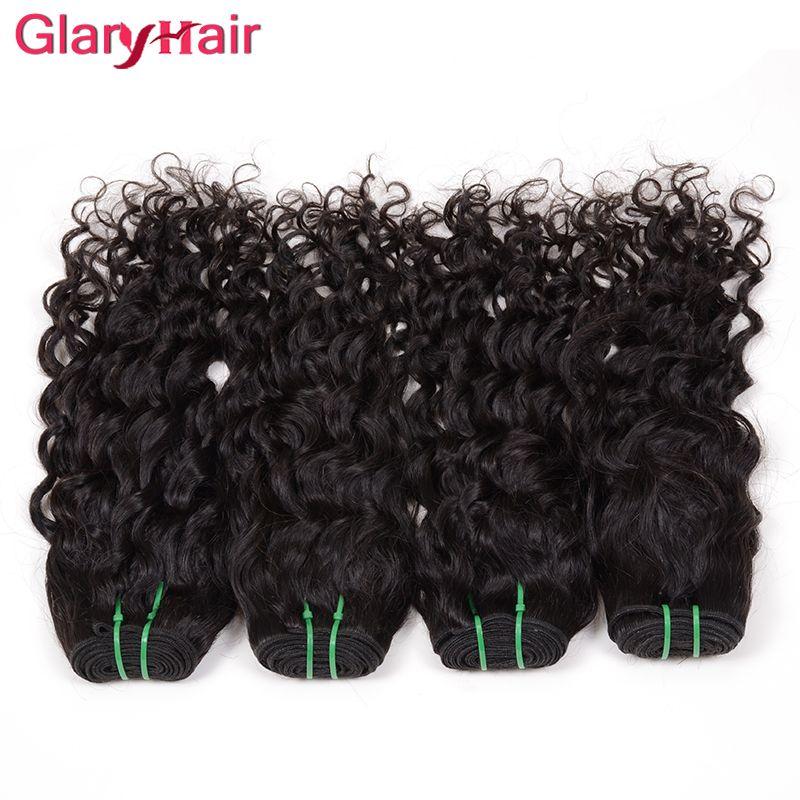 Heißwasser-Wellen-Haar-Verlängerungs-Jungfrau-brasilianische Haar-Webart-Schuss-großes gelocktes unverarbeitetes Remy-Menschenhaar bündelt die natürliche färbbare Farbe /