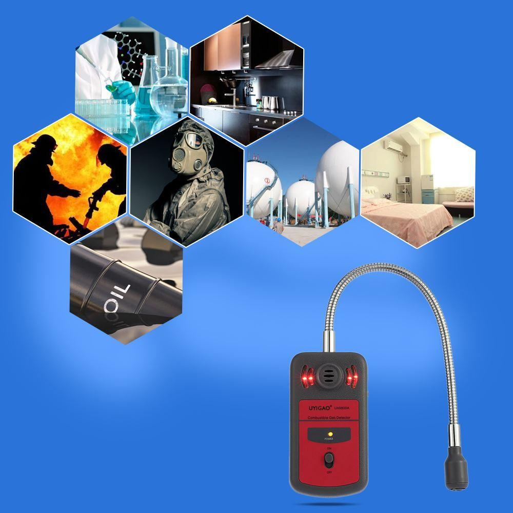 Freeshipping LCD Digital Combustible Gas Detector Automotive Gas Leak Location Determine Tester Gas Analyzer with Sound Light Alarm
