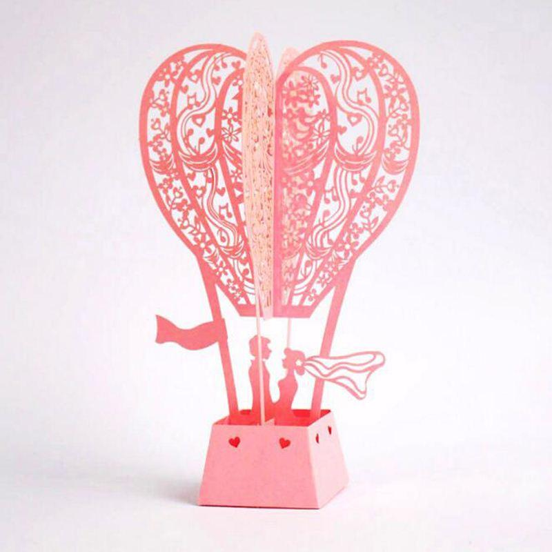 Hot air balloon lover postcards creative wedding gift card 3d pop up hot air balloon lover postcards creative wedding gift card 3d pop up couple greeting cards for lovers romantic birthday cards romantic cards from okbrand bookmarktalkfo Image collections