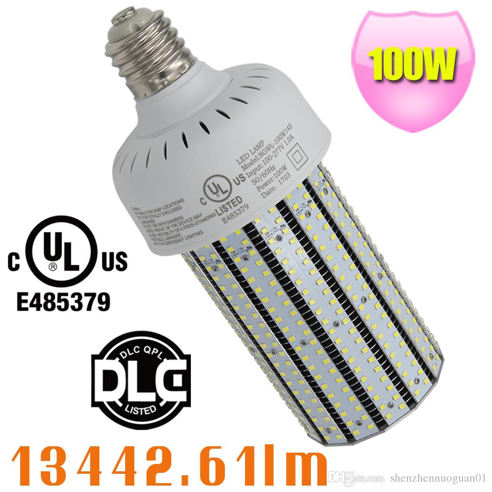 400Watt Metal halide Parking Lot Pole Light Replacement E39 100W LED  Retrofit Corn Lamp 5000K Daylight