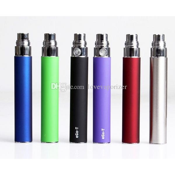 Cheap Ego-T Battery Electronic Cigarette for CE4 CE5 CE6 clearomizer 510 thread 650 900 1100mah ego t battery DHL free
