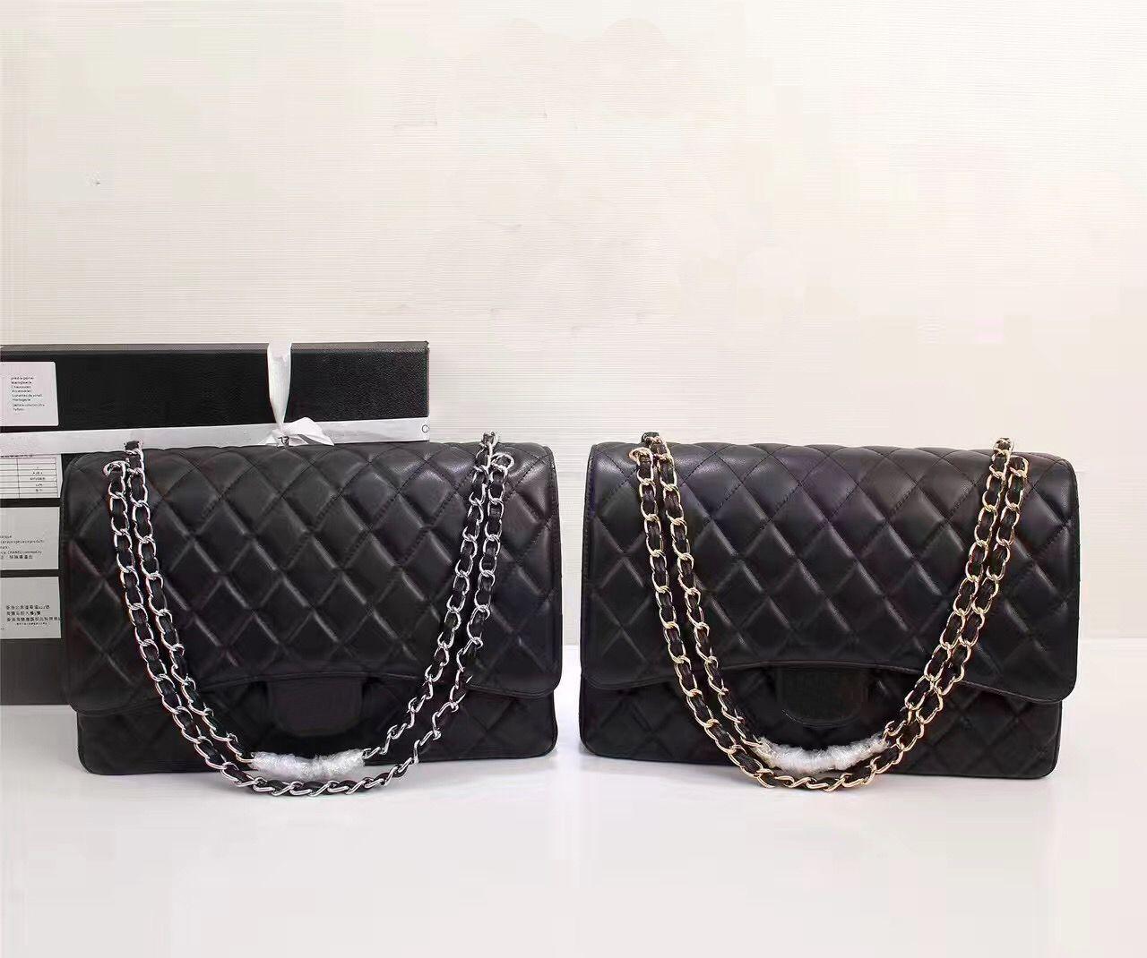 b0a69c91abbd Wholesale Orignal 33cm Real Sheep Leather Caviar Fashion Famous Chain Shoulder  Bag Luxury Handbag CF Maxi Purse Evening Bag Messenger Messenger Bag  Evening ...