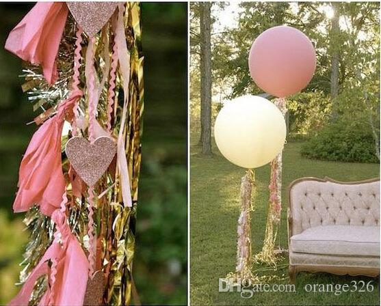 Shiny Tissue Paper Tassel Garland DIY Wedding Birthdays Party Decoration Paper Flower Party Event Gift Pack Supplies