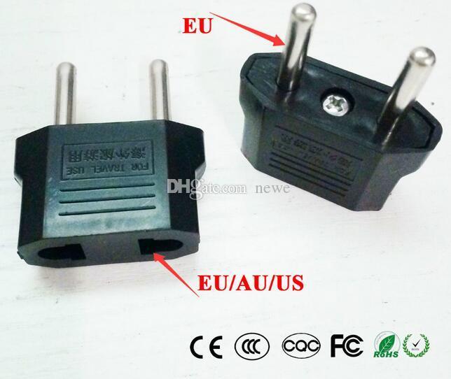 Viajes Para la UE universal del AU de la UE Plug EE.UU. Para Euro Europe Pared de alimentación de CA del cargador del enchufe adaptador convertidor 2 Zócalo redondo del Pin