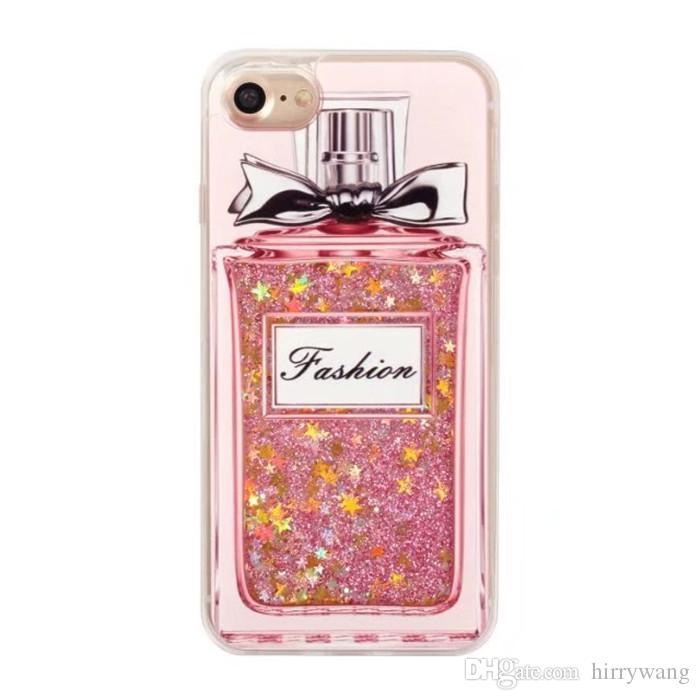 Jiagelin mais recente estrela fluindo garrafa de perfume design pc phone case areia movediça areia líquido para apple iphone 6 / 6s 4.7 polegadas / 6 plus / 6 s plus 5.