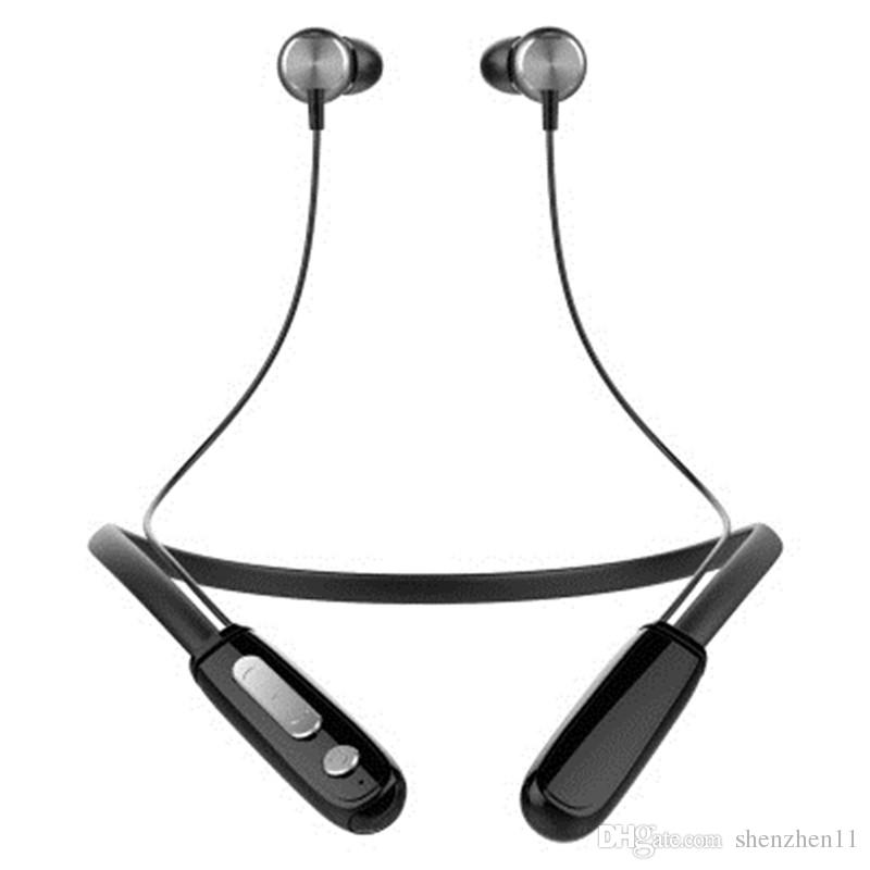 J18 Sports neckband Bluetooth Wireless Headset Stereo Headphone Earphone Universal Handfree With Mic DHL FREE EAR254