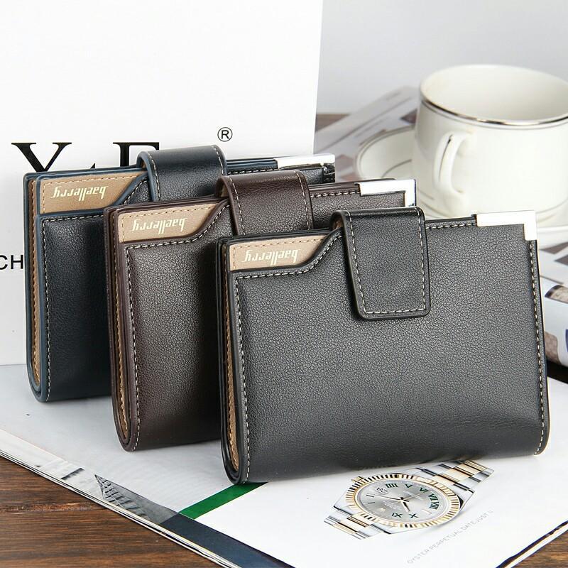 93798f7a96ff Baellerry Brand Wallet Men Leather Men Wallets Purse Short Male ...