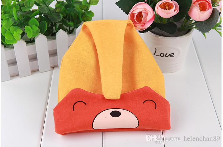 Autumn Winter Cute Animal Cotton Baby Caps Warm Newborn Hats for 3-36 months DHL Shipping