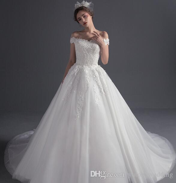2017 New Hot Sales Elegant Snow White Strapless Wedding Dress With ...