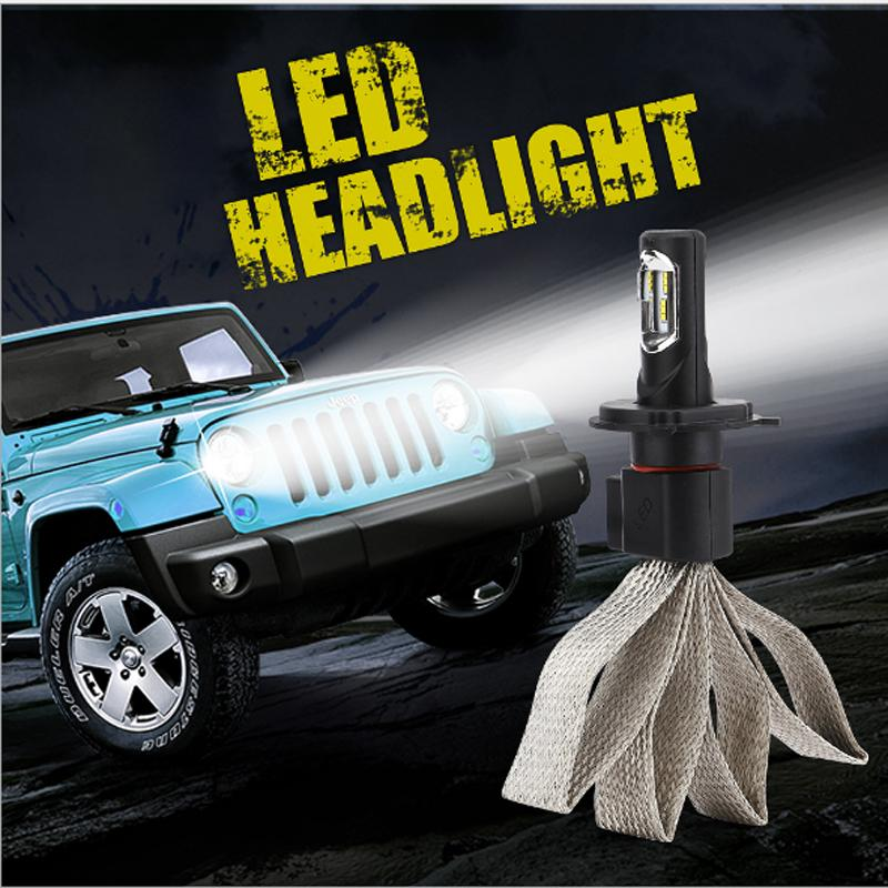 9000LM LED Headlight Conversion Kit Beam Headlamp, Fog DRL Light HID or Halogen Head Light Replacement, 6500K Xenon White