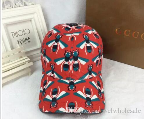 8e3217c2d7a Fashion Red Hat Tide Section Small Bee Hip Hop Hats Outdoor Travel Leisure Sun  Hat High Quality Designer Ball Cap High-end HOT Brand Caps Wholesale Ax Cap  ...