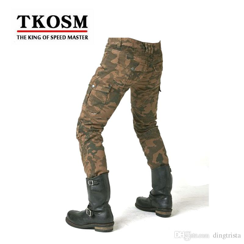 TKOSM 2017 KOMINE MOTORPOOL UBS06 Motocross Pants Motorcycle Men's off-road Outdoor Jeans Cycling Pant With Protect Equipment