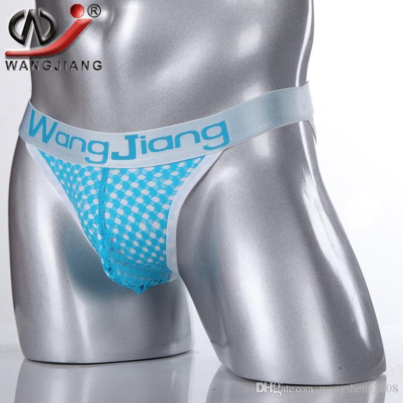 bf6f36a5eed3 2019 Men Sexy Briefs Breathable Mesh Underwear Brief Shorts Wangjiang Men  Low Waist Underpants Calzoncillos Nylon Man Panties From Wangsheng2008, ...