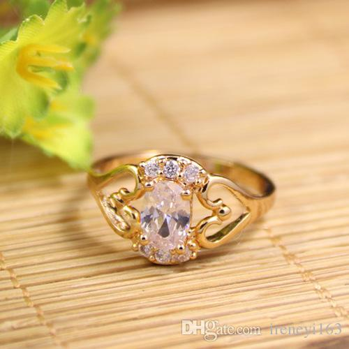 2018 fancy gold finger ring designs 18k yellow plated finger