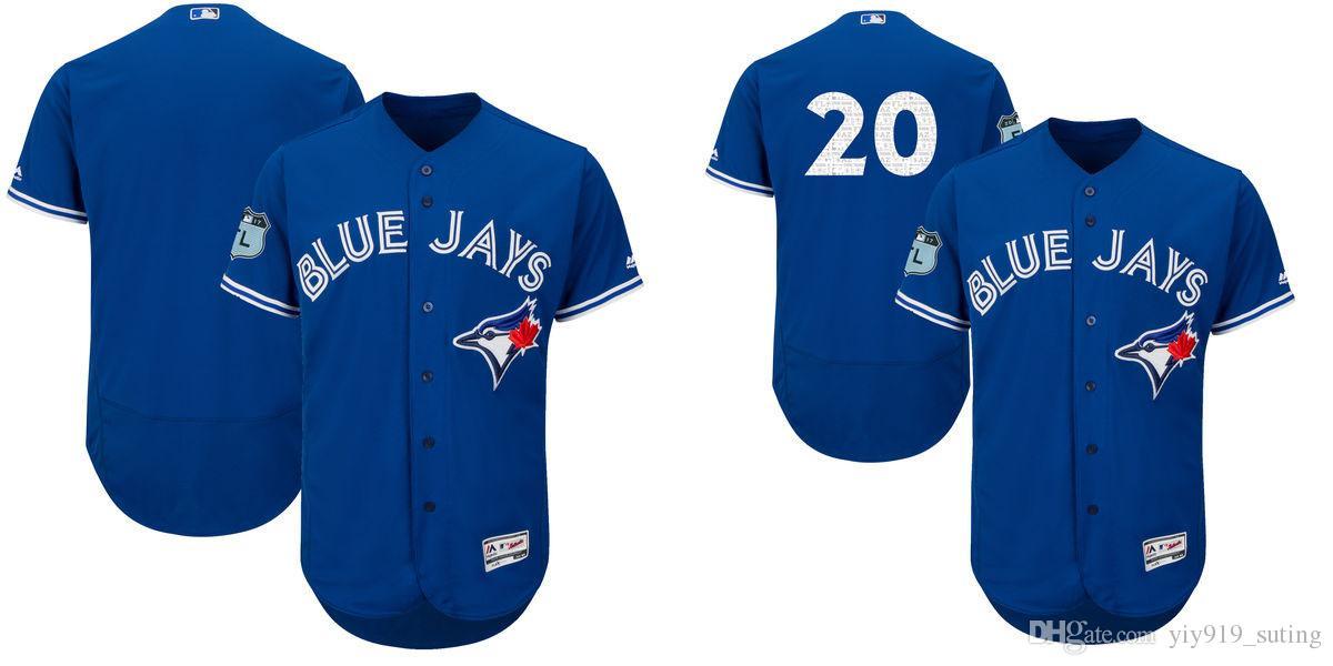 acaea878c ... 2017 2017 Spring Training Toronto Blue Jays Mens Jersey 20 Josh  Donaldson Flexbase Collection Baseball Jersey ...
