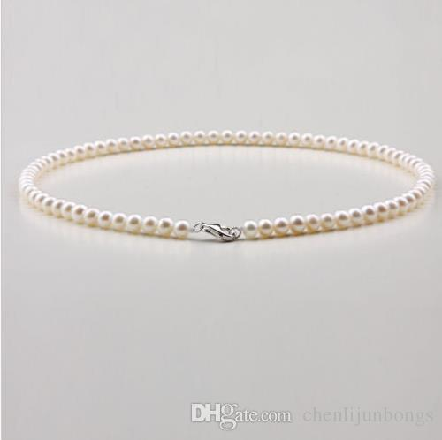 classic 8-9mm south sea white round pearl necklace 18inch