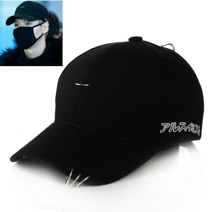 81ff7cee2e9 2019 Wholesale Kpop GD CL BTS V SUGA Solid Ring Safety Curved Baseball Cap  Women Men Curved Brim Plain Blank Snapback Cap Fishing Trucker Hat From  Comen