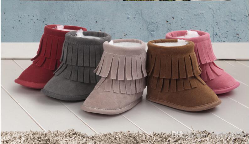 Garota Boy Botas de inverno Sapatinhos de primeiros passos Botas de neve de inverno para menina Botas de primeiros passos para bebê Sapatos de sola macia para bebê Botas de primeiros passos para crianças