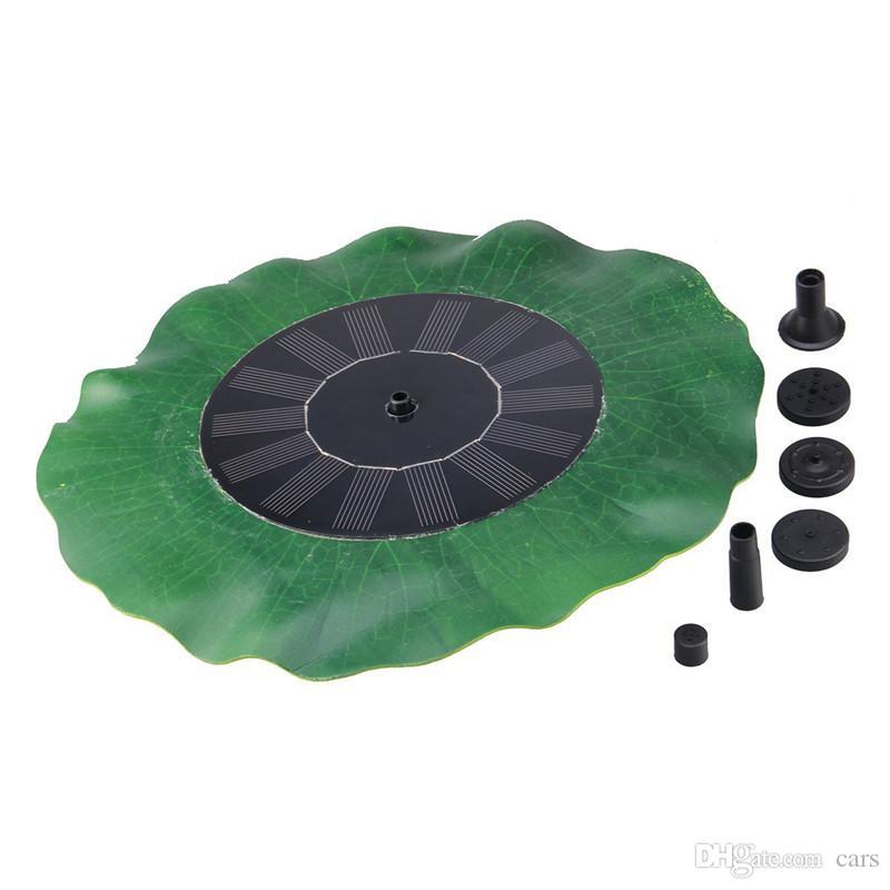 7V 1.4W Lotus Blatt Schwimmende Wasserpumpe Solar Panel Gartenpflanzen Bewässerung Power Brunnen Pool Fisch teich brunnen dekoration von Birdbath