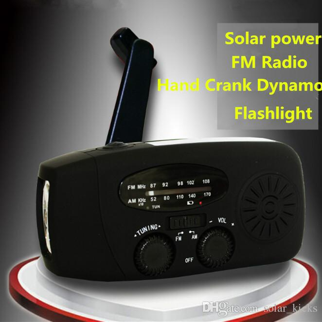 Hand Crank Radio AM FM NOAA Solar Dynamo 3 LED Flashlight Emergency Phone Charger Light YK S63