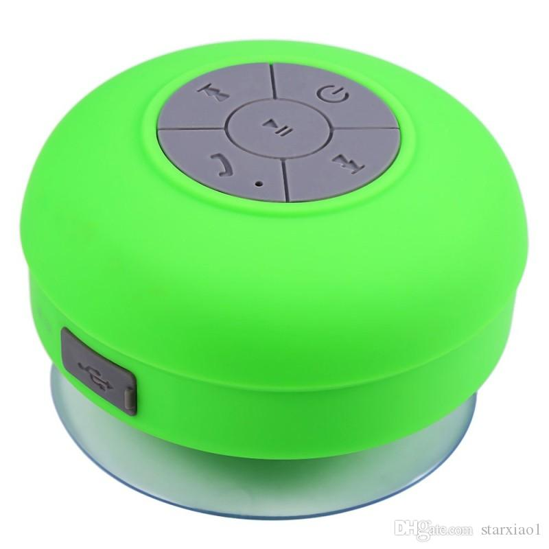 By DHL Mini Portable Shower Waterproof Wireless Bluetooth Speaker Subwoofer Car Handsfree Call Music Suction Mic For Apple iOS Android Phone