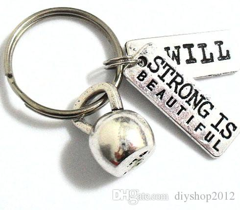12pcs Kettlebell Keychain strong is beautiful Charm charm Key Ring i will charm Gifts for Baseball Player Jewelry