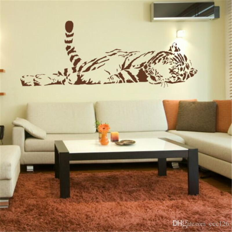 Animal wall stickers customerized lovely decoration tiger large size sofa glass cabnet stickers home decal decor gift