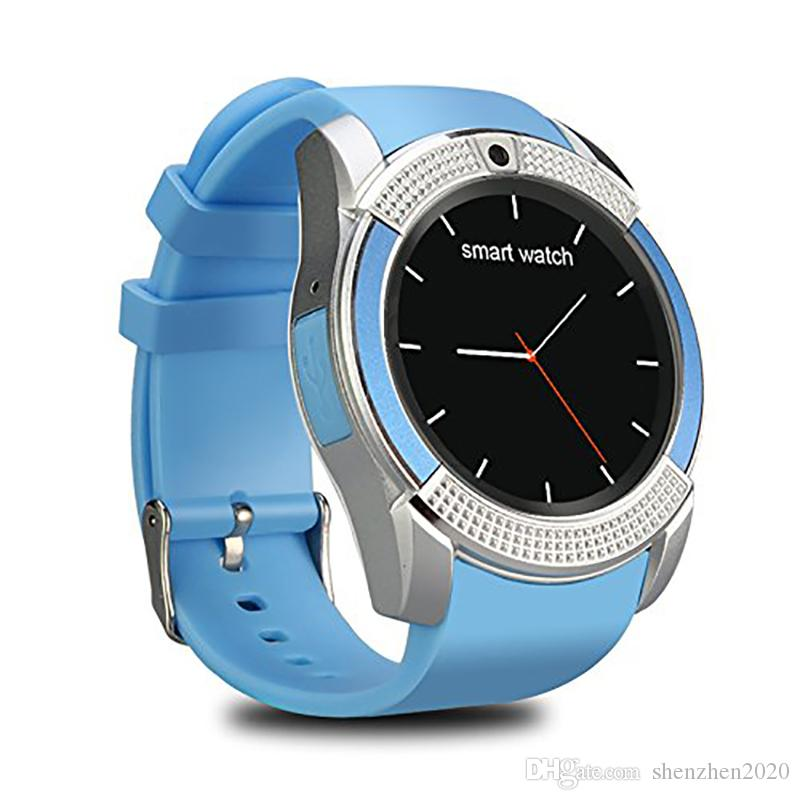 V8 Smartwatch Bluetooth Smart Watch With 0.3M Camera SIM And TF Card Watch For Android System S8 IOS Iphone Smartphone In Box 2017 2018