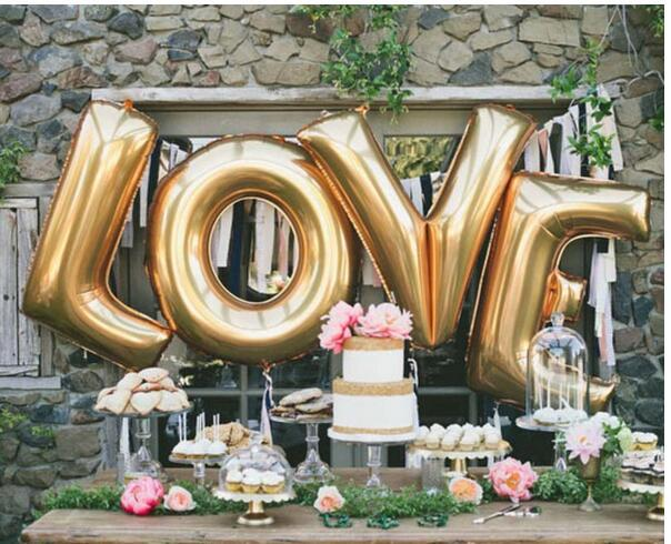 """New Design 40"""" A - Z Full Alphabet air balloon Party Wedding Decoration Mylar Foil Balloon large Large Letter"""