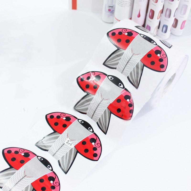 Wholesale Red Kite Adhesive Nail Form For Acrylic/Uv Gel Nail Tips ...