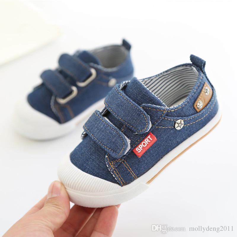 dc7eb70cab02 Unique Panda Baby Shoes Girls Boys Casual Sneakers Baby Girl Prewalkers  Little Kids Shoes Boy Jeans Denim Children Canvas Shoes Big Kid Shoes  Toddler Casual ...
