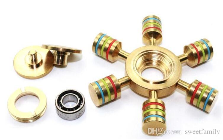 EDC Hand Spinner Rainbow Hand Spinner 6 Spins Zappeln Spinner Baufinia Flower Focus Toys Dekompression Spielzeug