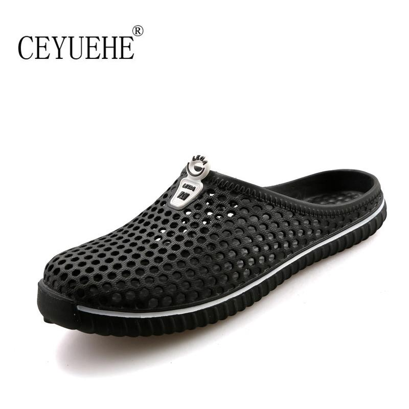 Wholesale Casual Lover Summer Rubber Hole Garden Shoes Flat Slip