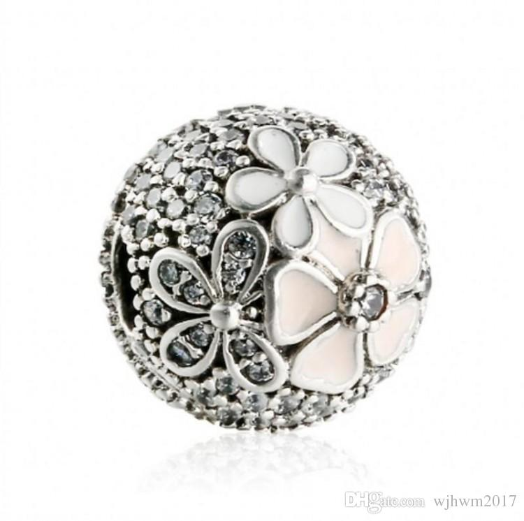 ab67aa703 2019 Poetic Blooms Fixed Clip Charms Beads Authentic 925 Sterling Silver Jewelry  Flower Stopper Lock Bead For DIY Bracelets Making Accessories From ...
