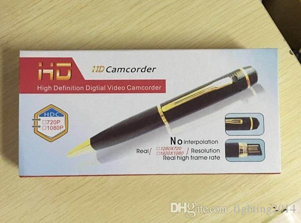 Full HD 1080P pen camera audio video recorder Ball pen camera mini DV Pen DVR mini camcorder in retail box