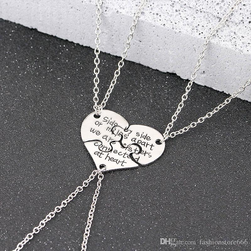 Wholesale new fashion set heart pattern sister pendant necklace wholesale new fashion set heart pattern sister pendant necklace friendship memorial gift forever sister number pendant necklace stone pendant necklace mozeypictures Gallery