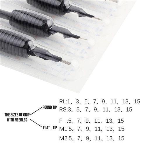 10 х 5RS одноразовые татуировки захваты игры с иглы 19мм для татуировки иглы чернила кубки Grip наборы