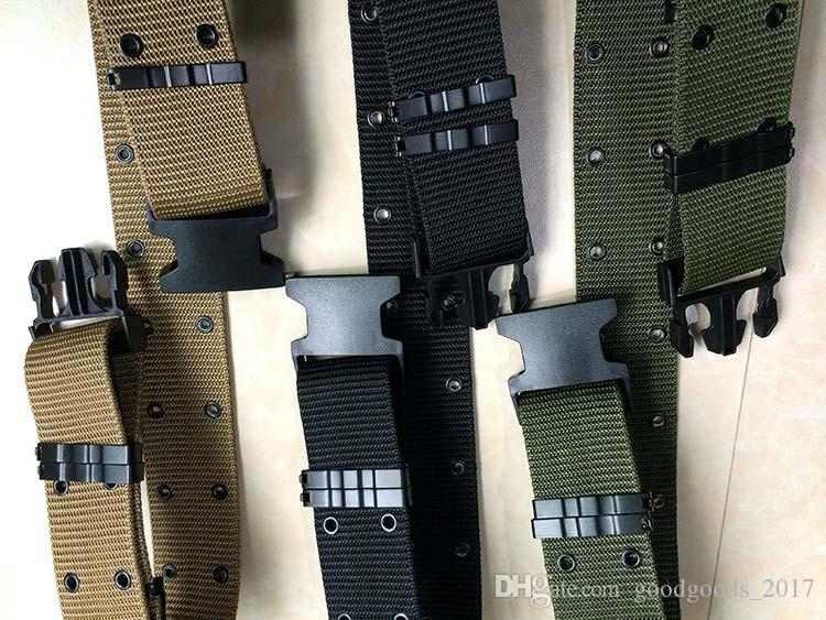 2017 New Adjustable Sports Tactical Belt S-type Combat Seat Inner Belt Casual Canvas Belt Three-color M329