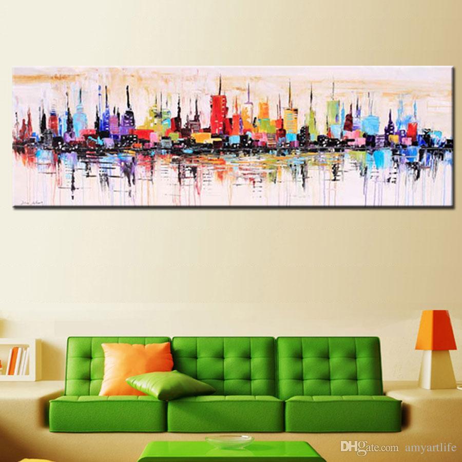 Acquista moda moderna soggiorno pittura a olio decorativa for Pittura moderna soggiorno