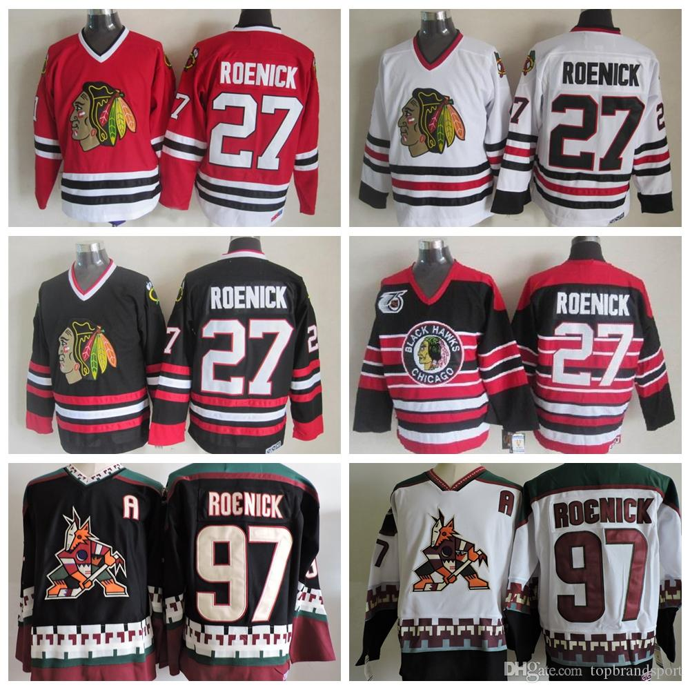2019 Throwback 1992 Chicago Blackhawks Jersey  27 Jeremy Roenick Jerseys  Vintage CCM Phoenix Coyotes 97 Jeremy Roenick Hockey Jersey A Patch From ... e75a707d0