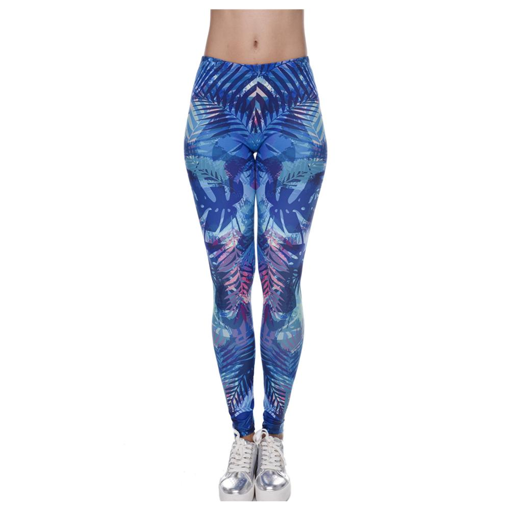 29da52a58edf18 Online Cheap Wholesale 3D Print Tropical Leaves Blue Leggings Women Causal  Jeggings Sexy Leggins Tayt Fitness Legging Calzas Mujer Soft Legins Girls  By …