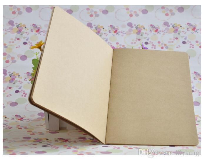 İş ofis öğrenci tedarikçisi kraft kağıtları not defterleri yumuşak lekelemek 60 yaprak günlük notlar bağbozumu okul öğrenci kitabı notları kitaplar dikkat
