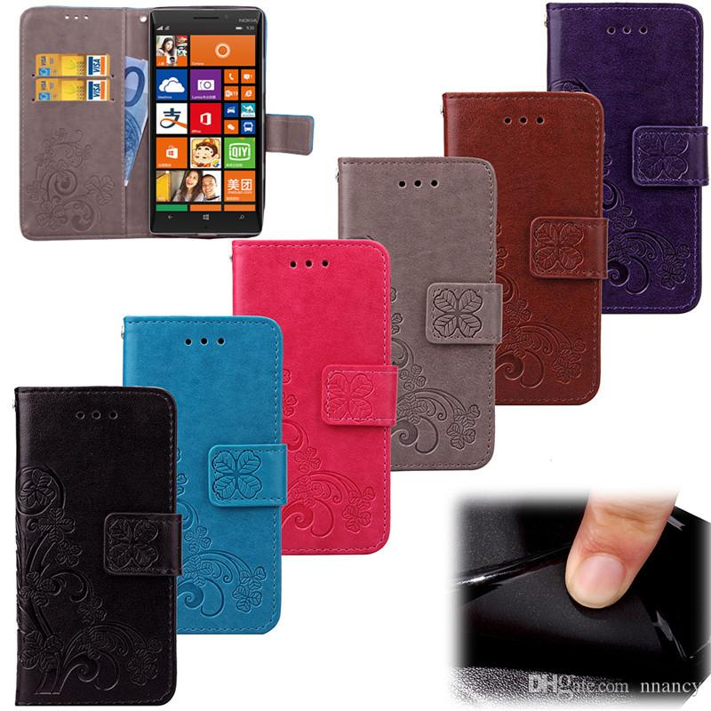 the latest 7d43e 24399 Luxury PU Leather Wallet Flip Case For Nokia Lumia 930 Case Shockproof  Cover Lumia 535 925 640 Matte Spin Card Phone Case