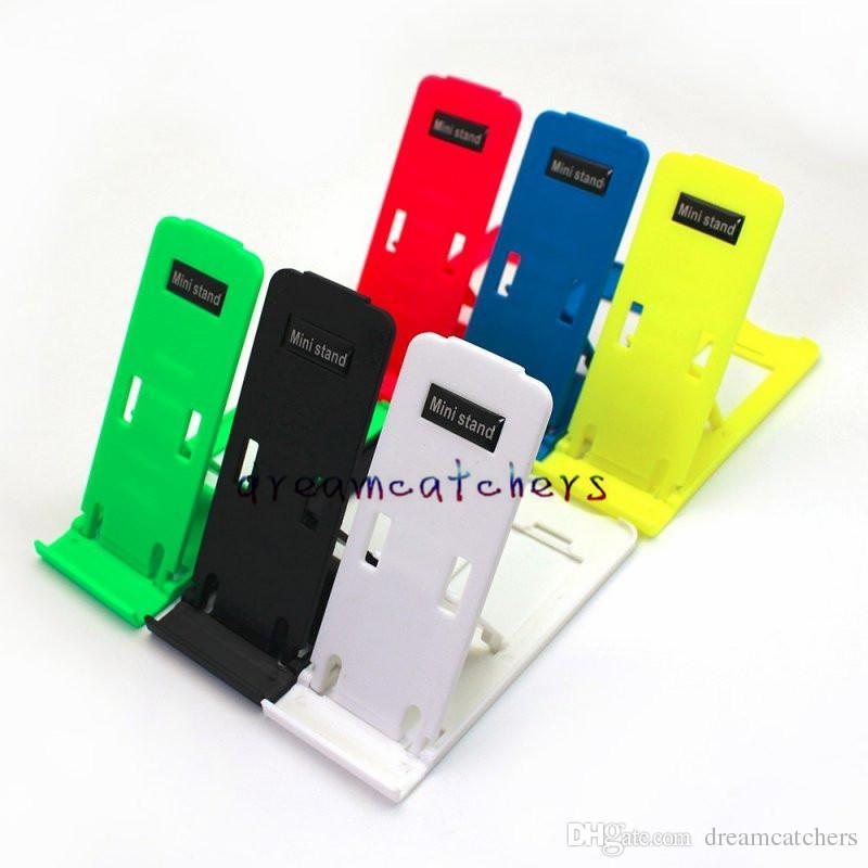 Yeni Evrensel Katlanabilir Plastik Masa Mini Telefon Standı Tutucu Katlanır Ayarlanabilir Braketi Tutucu iphone 7 Samsung S7 ipad HTC Cep telefonu