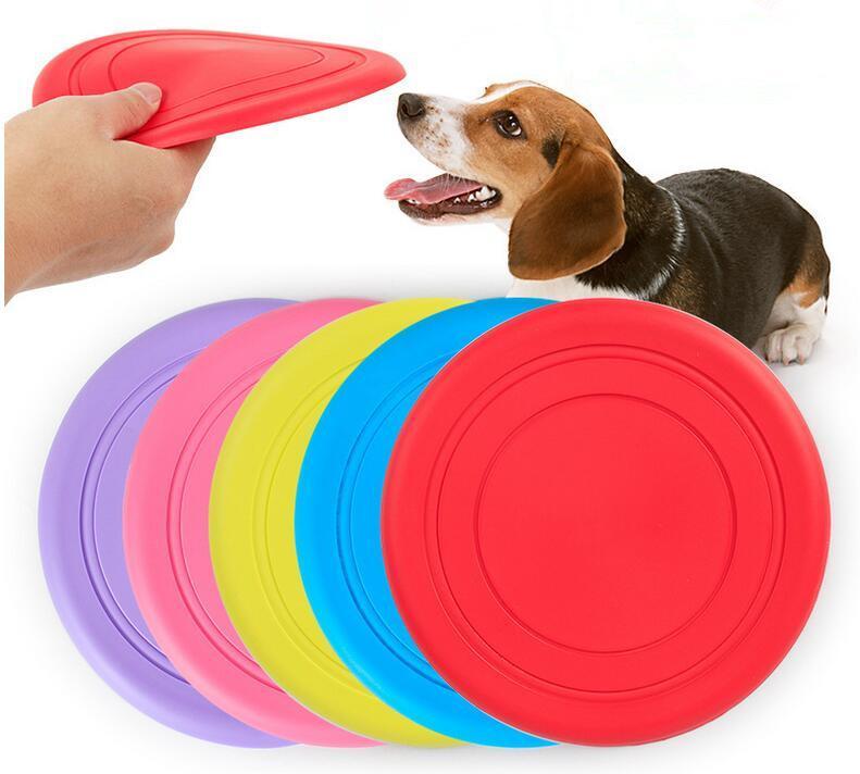 Оптовая Силиконовые Собака Летающий диск зуба Устойчив Soft Puppy Открытый собак Pet Play Складная Обучение Fun Fetch игрушка бесплатная доставка